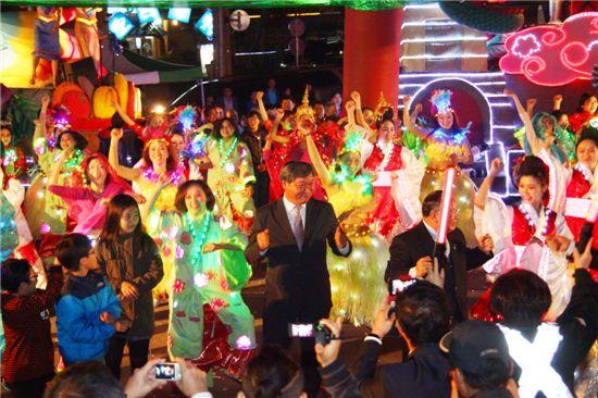 지역민들과 함께 펼쳐질 '퍼레이드 교류왕국 대백제' 행사 전경