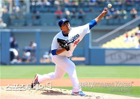 미국 프로야구 LA 다저스의 류현진/getty image