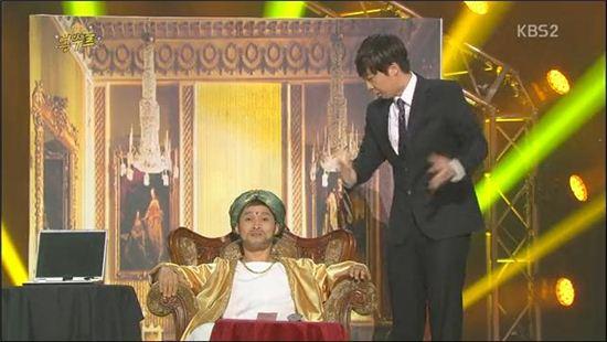 억수르로 이름을 변경한 개콘 만수르 (사진: KBS 방송화면 캡처)