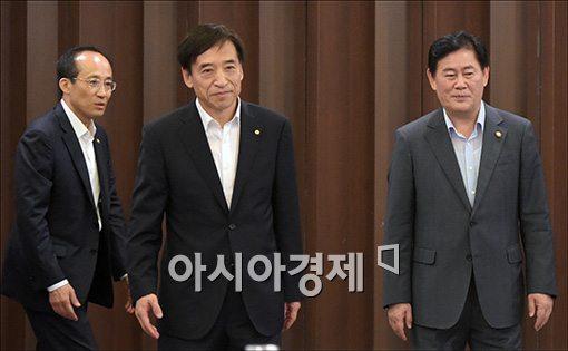 [포토]이주열 한은 총재·최경한 경제부총리 조찬회동