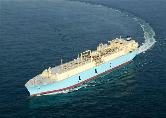 ▲삼성중공업이 건조한 16만㎥급 LNG선(기사내용과 무관)