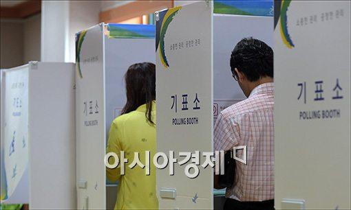 [포토]투표하는 유권자들