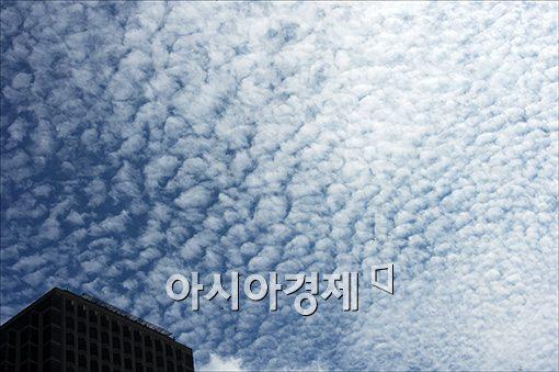 [포토]'폭우가 내린 뒤 양털구름'