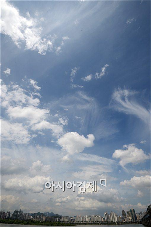 [포토]비 활짝 갠 서울하늘