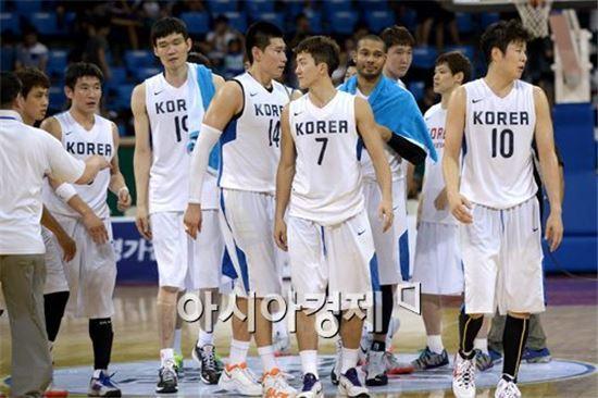 남자 농구대표팀[사진=김현민 기자]