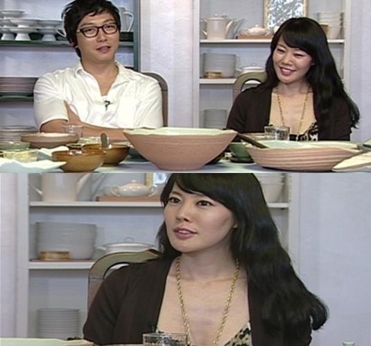 이혼소송 중인 탁재훈과 이효림(사진: SBS 방송화면 캡처)