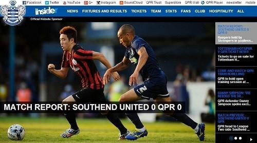 윤석영이 QPR의 프리시즌 경기에 첫 출전했다.[사진=QPR 공식 홈페이지]