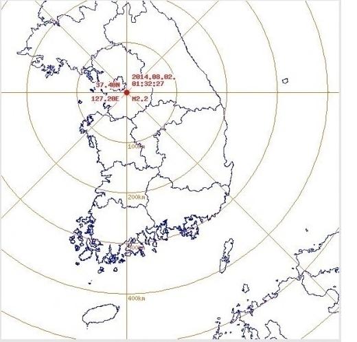 경기도광주 2.2지진(사진:기상청제공)