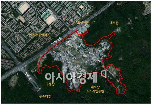 구룡마을 개발계획 도면(자료:서울시)