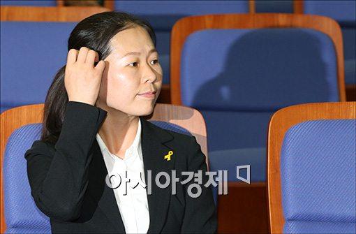 [포토]의원총회 참석한 권은희 의원