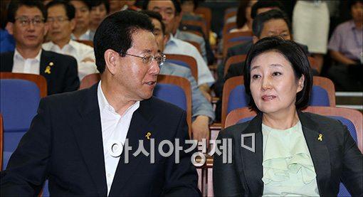 [포토]의견 나누는 박영선·김영록
