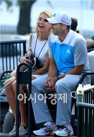 세르히오 가르시아(오른쪽)와 여자친구 카타리나 뵘. 사진=Getty images/멀티비츠