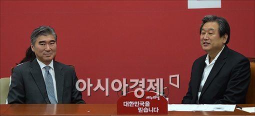 [포토]성김 주한 미대사 만나는 김무성 대표