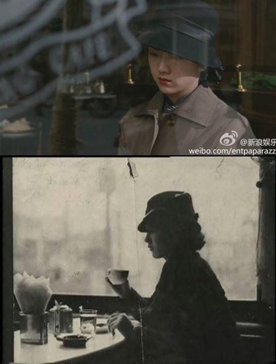 탕웨이 색계 실존인물(사진: 피아오루어무 웨이보)