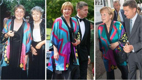 1996년, 2002년, 2014년 같은 옷을 입고 잘츠부르크 페스티벌을 방문한 앙겔라 메르켈 독일 총리(사진:독일 언론매체 빌트)