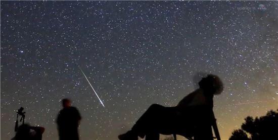 ▲페르세우스 유성우가 11~13일 내린다.[사진제공=NASA]
