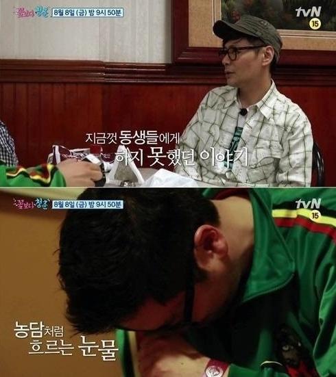 윤상이 알콜 의존증이 있다고 고백했다. (사진:tvN '꽃보다 청춘' 방송 캡처)