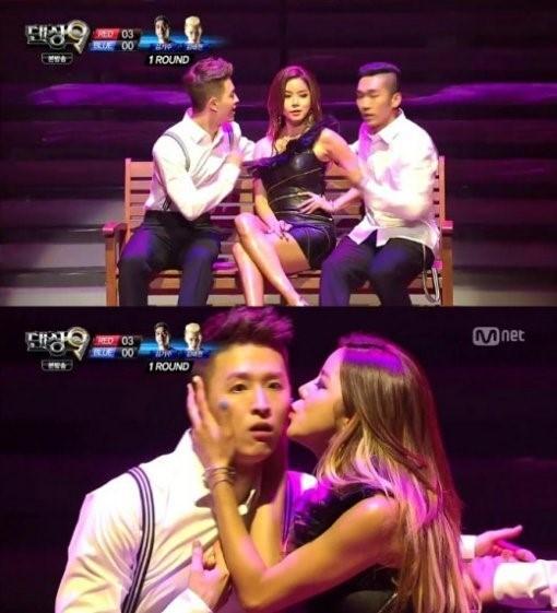 정하은이 '댄싱9' 무대에 깜짝 등장했다. (사진:Mnet '댄싱9' 방송 캡처)