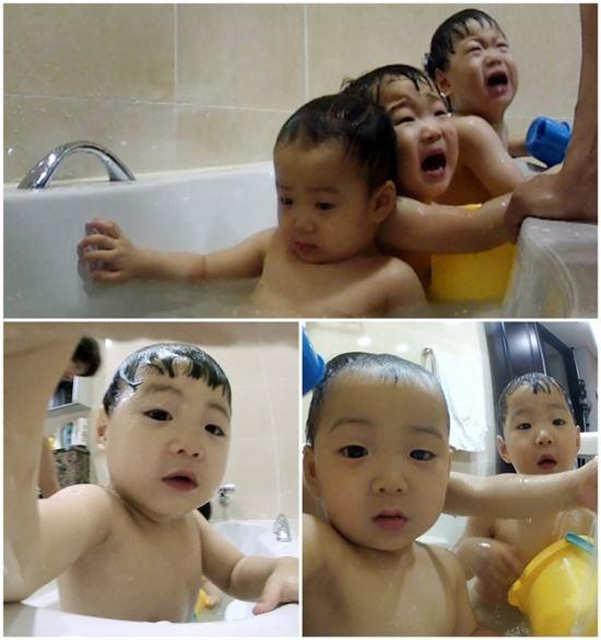 송일국과 세쌍둥이 (사진:KBS2 '슈퍼맨이 돌아왔다' 제공)