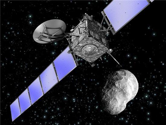 ▲로제타탐사선이 혜성궤도에 진입했다. 11월에 착륙선을 보낼 계획이다.[사진제공=NASA]