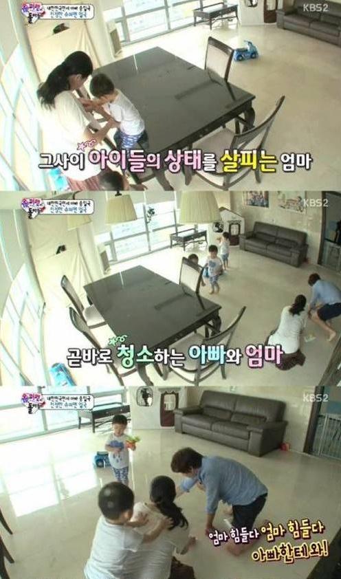 '아빠 어디가'에 출연한 송일국의 아내 정승연이 화제다. (사진: KBS2 '슈퍼맨이 돌아왔다' 캡처)