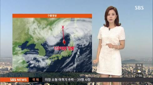 오늘 날씨, 중부 대체로 맑다가 한때 소나기(사진: SBS 방송화면 캡처)