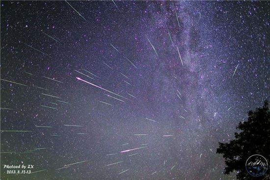 페르세우스 유성우가 11~13일 내린다.(사진: NASA 제공)