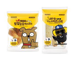 삼립식품이 '샤니 카카오 프렌즈 빵' 2종을 선보였다.