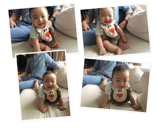 박지윤과 최동석 아나운서의 아들 (사진:박지윤 블로그)