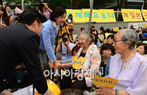 [포토]수요시위 참석한 박영선 새정치민주연합 원내대표