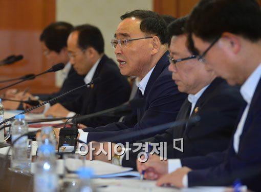 [포토]국가정책조정회의 참석한 정홍원 국무총리