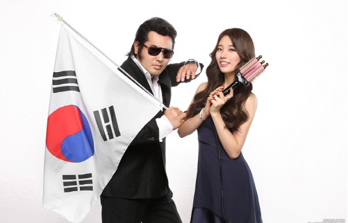 수지와 김보성(사진:더블에스샤이니)