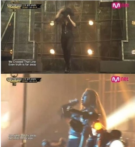 '쇼미더머니3'에 출연한 뮤지컬 배우 차지연(사진:Mnet '쇼미더머니3' 방송 캡처)