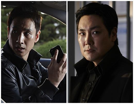 영화 '끝까지 간다'의 주연 이선균(고건수 역)과 조진웅(박창민 역)