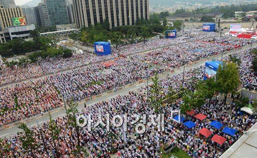 [포토]광화문 시복미사, 80만명 운집