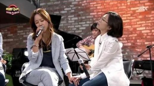 '히든싱어3'에 출연한 이선희와 백지영 (사진출처 = JTBC '히든싱어3' 캡처)