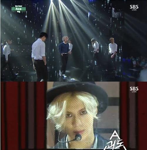 태민 솔로 무대 (사진출처 = SBS '인기가요' 캡처)