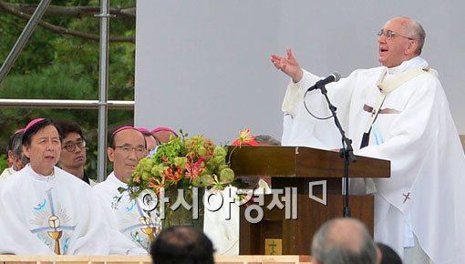 """[포토]교황 """"젊은이들이여! 깨어있으라!"""""""