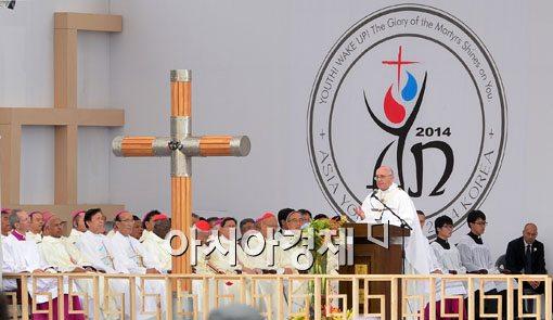 """[포토]교황 """"우리는 깨어있어야 합니다"""""""