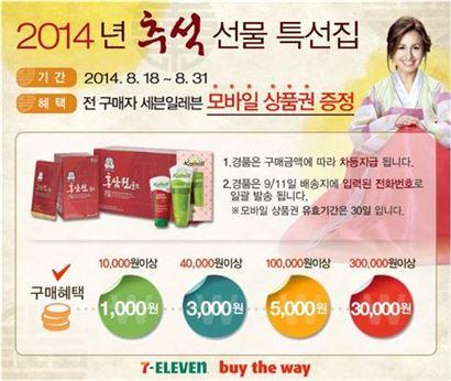 세븐일레븐, 업계 최초 모바일 추석 선물세트 판매