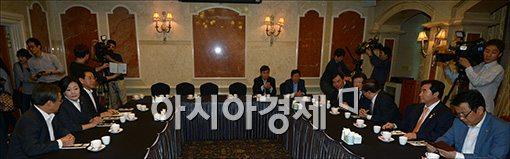 [포토]새정치, 비공개 상임고문단 회의