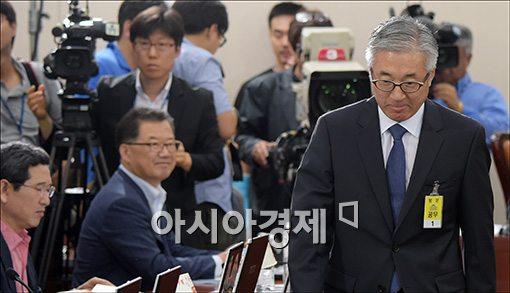 [포토]고개 숙인 김종덕 후보자