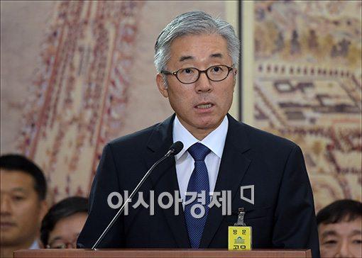 [포토]모두 발언하는 김종덕 후보자