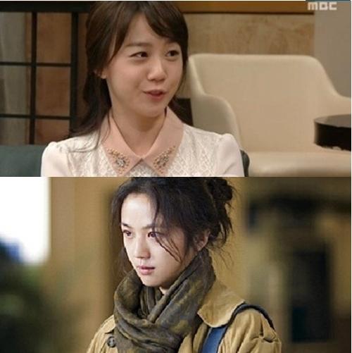 백옥담(위) 탕웨이(아래) 닮은 꼴 화제(사진:MBC 캡처)