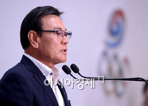 [포토]인사말 하는 박순호 선수단장