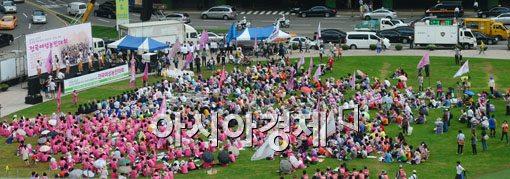 [포토]전국여성농민대회에 소음측정차량 등장
