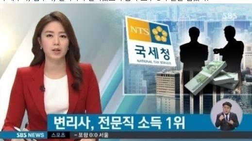최근 변리사가 전문직 소득 1위인 것으로 밝혀졌다. 이 결과에 대해 변리사 업계측이 통계자료의 문제점을 제기하고 나섰다.(사진출처 = SBS 뉴스 캡처)