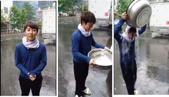 홍진호가 '아이스버킷 챌린지'에 동참했다.(사진출처 = 홍진호 페이스북)