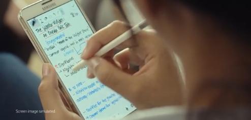 삼성 갤럭시노트4 티저(예고광고) 캡처