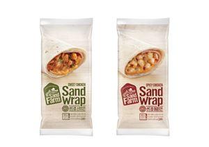 삼립식품에서 또띠아 롤링 샌드위치 '샌드팜 샌드랩' 2종을 선보였다.